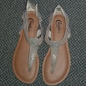 Candies size 6.5 tan/brown with stones.